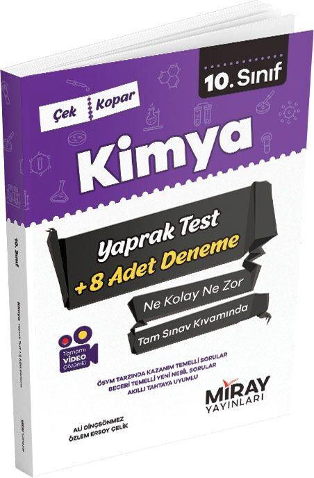 10. Sınıf Kimya Yaprak Testler Miray Yayınları