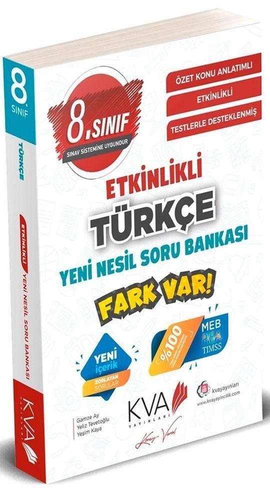 KVA 8. Sınıf Türkçe Yeni Nesil Etkinlikli Soru Bankası Koray Varol