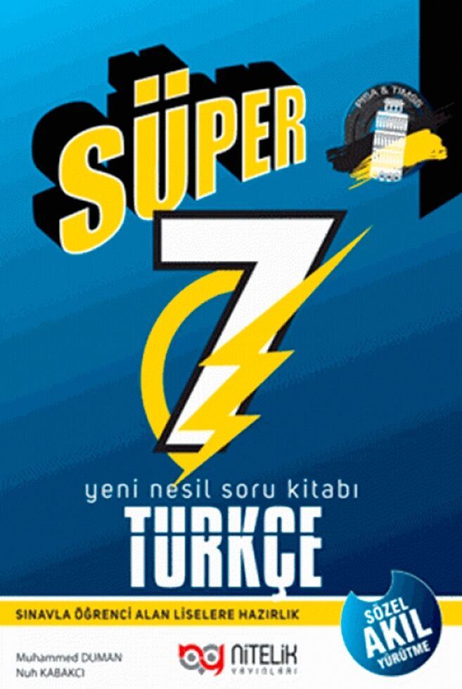 7.Sınıf Yeni Nesil Süper Türkçe Soru Kitabı Nitelik Yayınları
