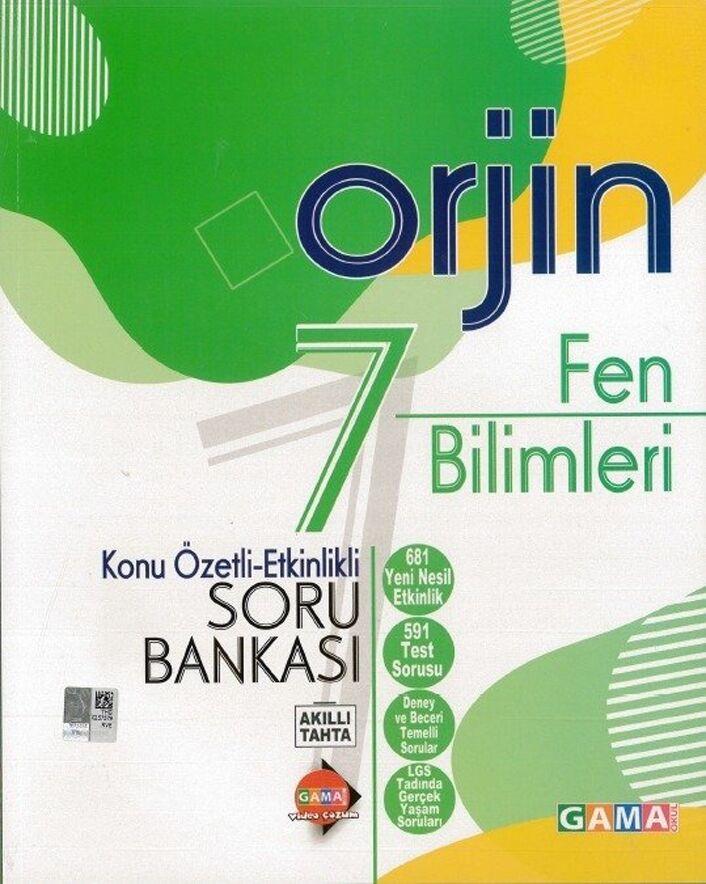 Gama Okul Yayınları 7. Sınıf Fen Bilimleri Orjin Konu Özetli Etkinlikli Soru Bankası